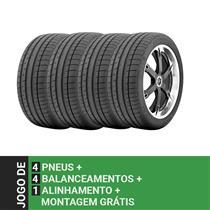d4a518f9f Jogo de 4 pneus Continental Aro 17 215 50R17 ExtremeContact DW 95W + 4  Balanceamentos
