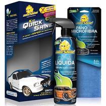 Kit Quick Shine - cera liquida 500ml + pano de microfibra